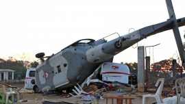 Helicopter Crashed While Assessing Damage From Powerful Earthquake, 13 Killed