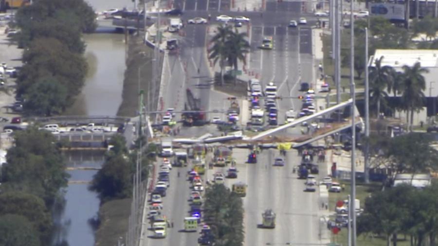 Pedestrian Bridge Collapses at University; Several Killed