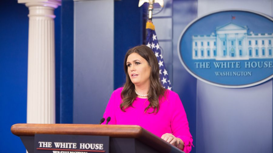 Sarah Sanders Fires Back at April Ryan for Saying Her Head Should Be 'Lopped Off'