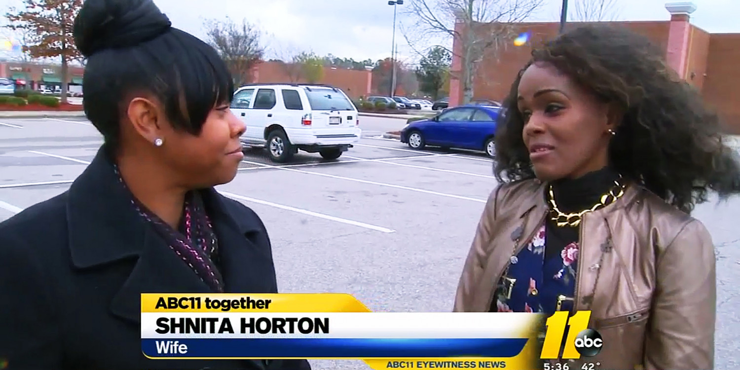 Shnita Horton (L) and Esther Daniel on the day Horton got her rings back. (ABC11 screenshot)