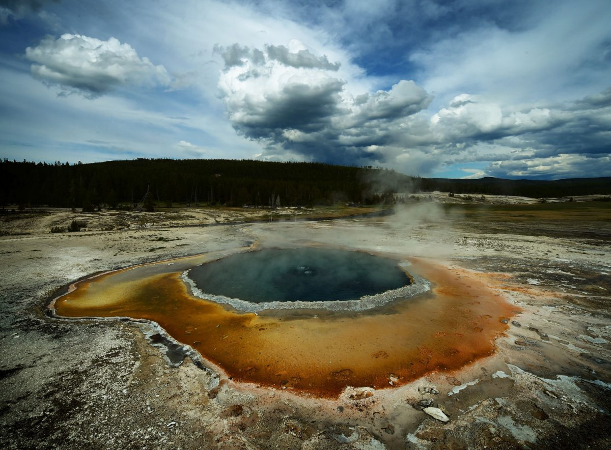 Upper Geyser Basin of Yellowstone National Park