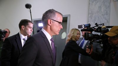 Justice Department Drops Case Against Former Acting FBI Director McCabe