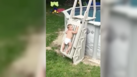Parents Capture Terrifying Moment 2-Year-Old Scales 'Unclimbable' Pool Ladder