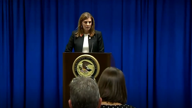 U.S. Attorney Nealy Cox announces the unsealing of the indictments against 8 MS-13 members. (Fox screenshot)