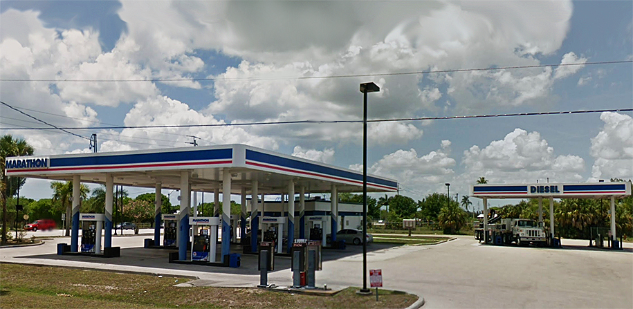 The Marathon station where the shooting occurred. (Google Maps screenshot)