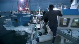 French Fishermen Clash With British Boats Over Scallop Fishing
