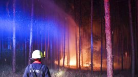 Huge Wildfire Southwest of Berlin Sets Off WWII Arms Blasts