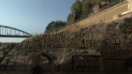 Drought Reveals Ancient 'Hunger Stones' in Czech River