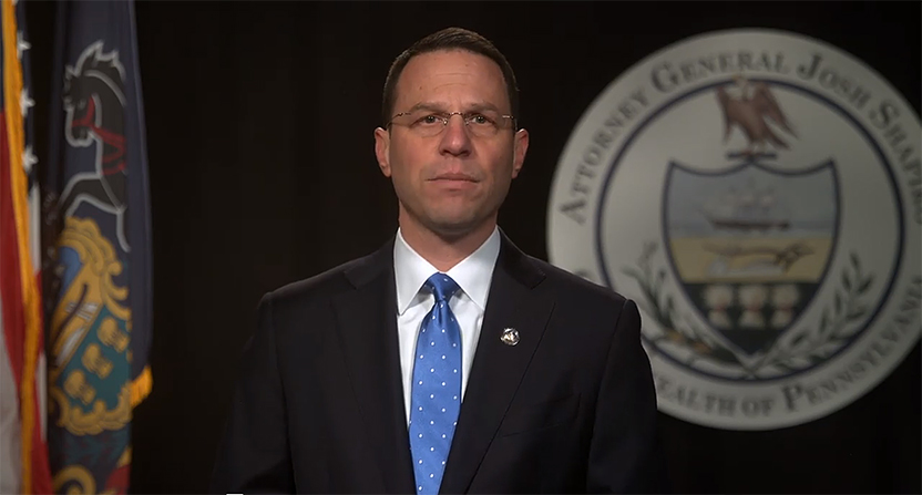 Attorney General Josh Shapiro pleaded for victims to find the courage to step forward in this video published April 9. (attorneygeneral.gov)