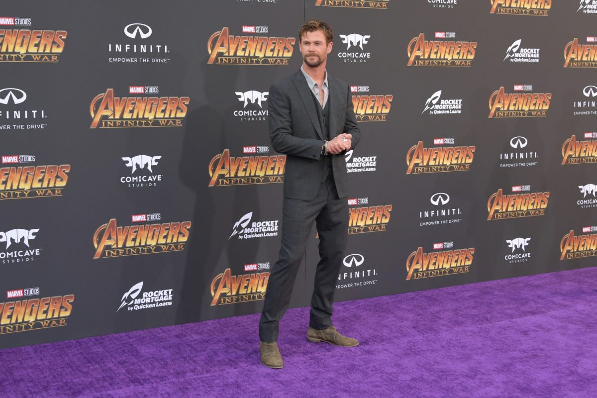 Chris Hemsworth arrives at the Premiere Of Disney And Marvel's 'Avengers: Infinity War' in Los Angeles on April 23, 2018. (Neilson Barnard/Getty Images)