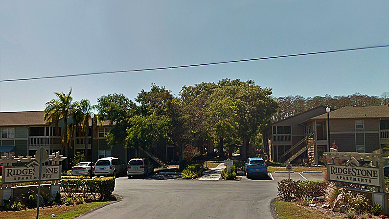 The Ridgestone Apartments in Hudson, Florida, where the shooting occurred