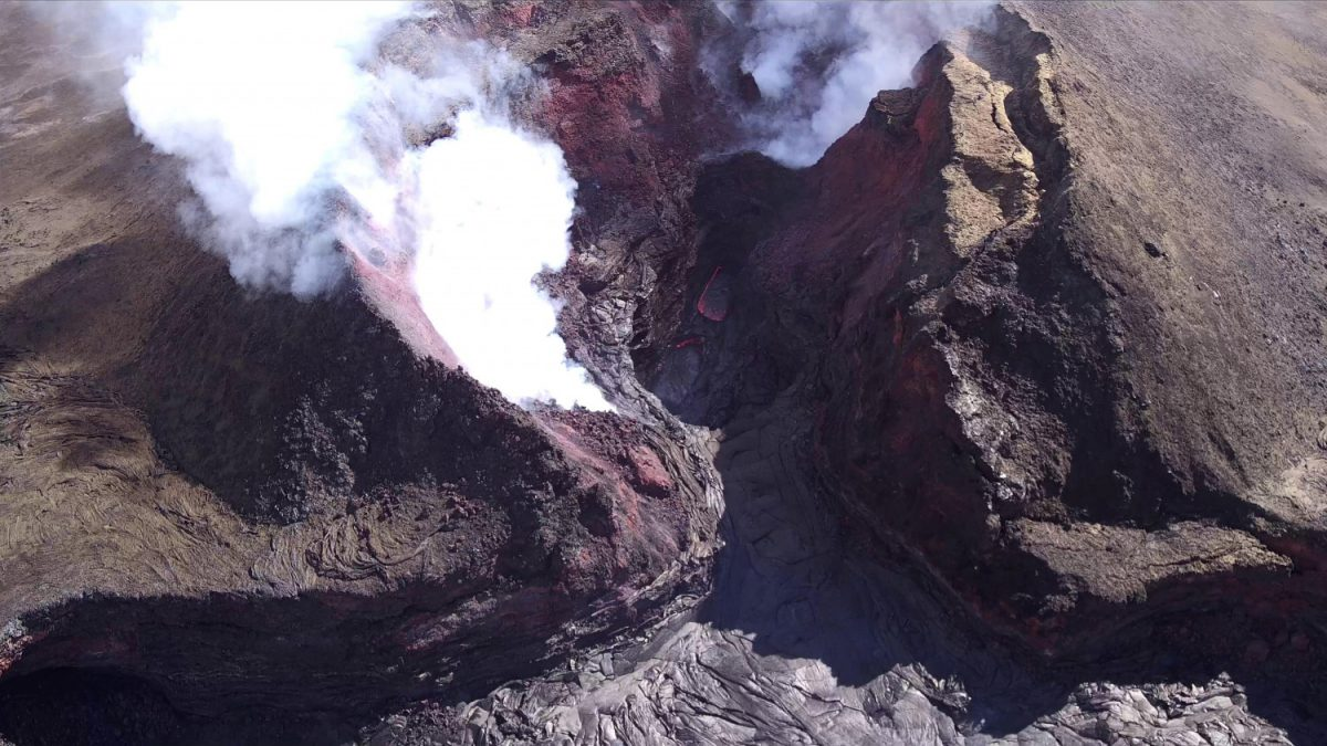 This United States Geological Survey shows diminished volcanic activity on Kilauea