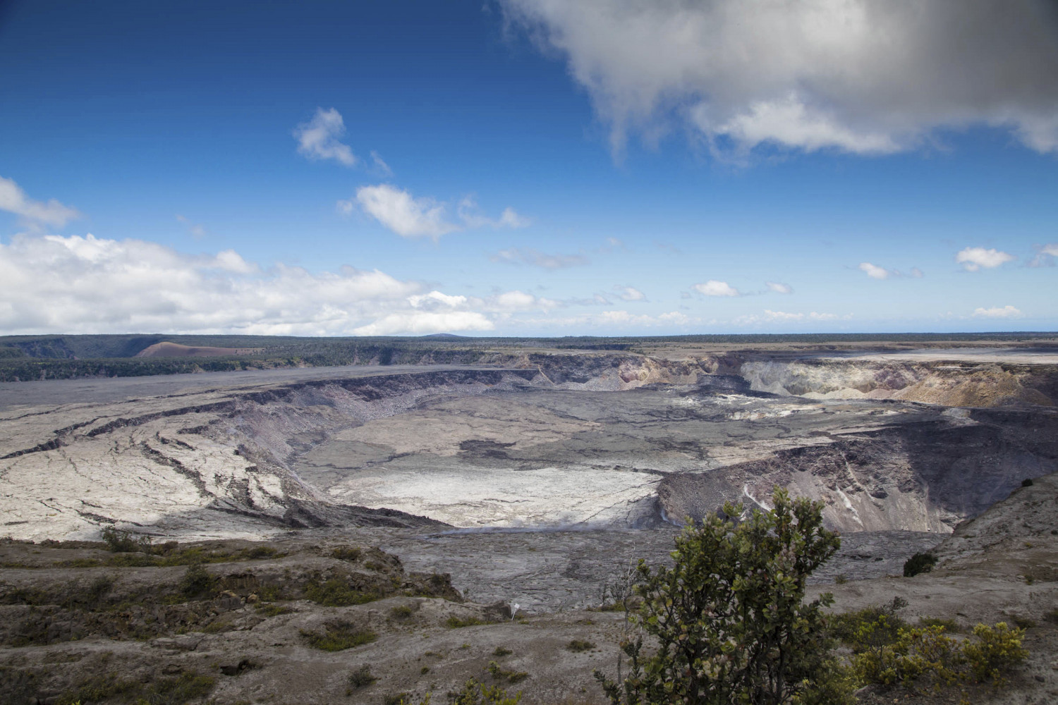 This National Park Service photo shows Halemaumau Crater and Kilauea Caldera