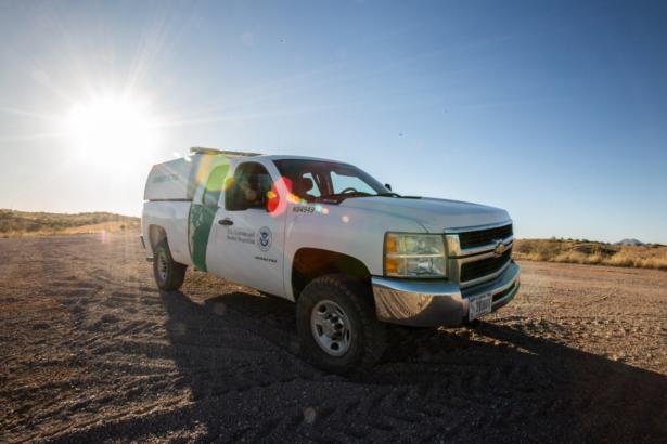 A Border Patrol agent truck