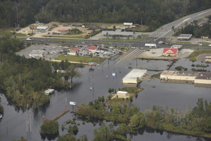 floodwaters in North Carolina