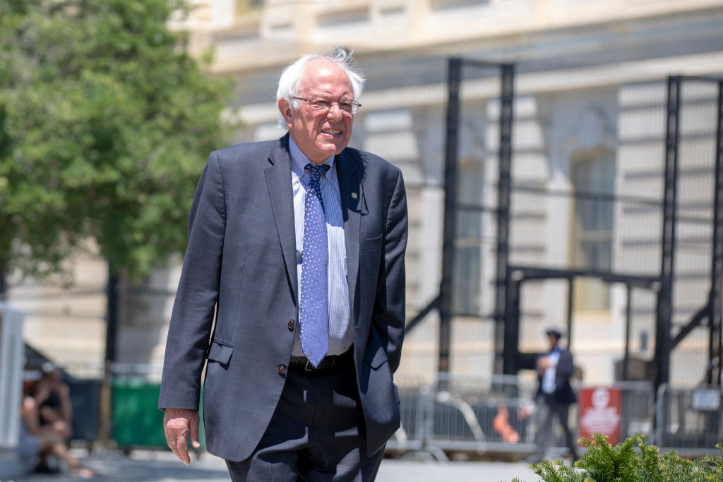 Bernie Sanders walking