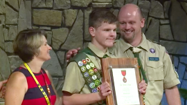 16-Year-Old Eagle Scout Receives Rare Award for Saving Leader From Drowning