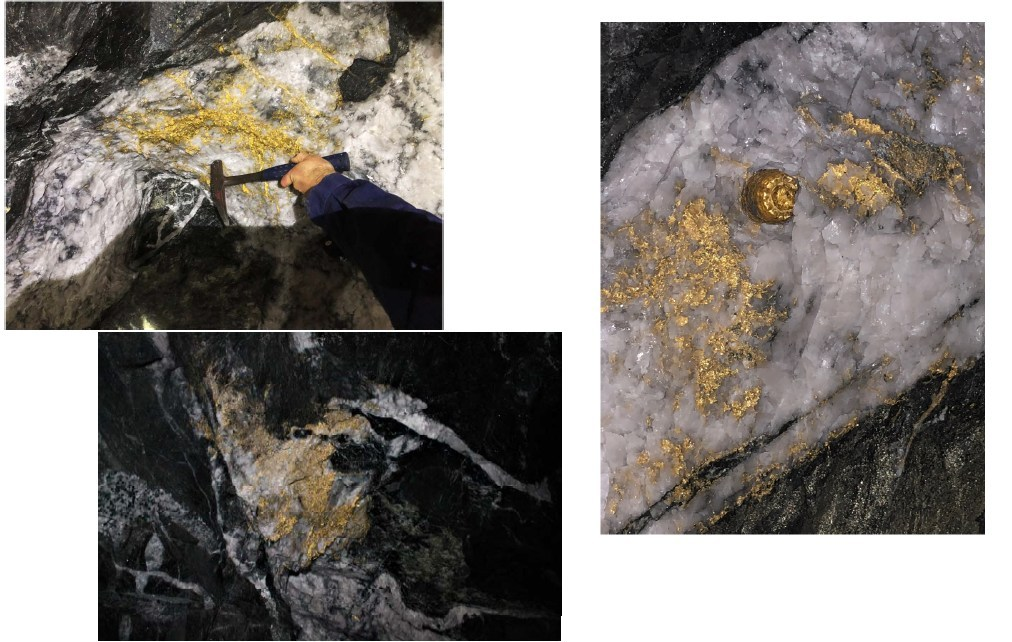 Gold in quartz at the Beta Hunt mine