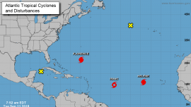 Hurricane Helene Moving Northwest as Tropical Storm Isaac 'Remains Strong'