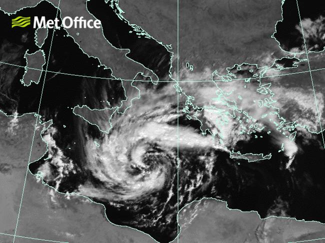 Rare Hurricane-Like Medicane Storm Hits Europe