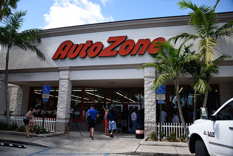 The AutoZone store where Cesar Sayoc was arrested