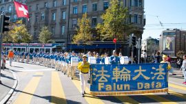 Falun Gong March in Zurich Delivers Message of Hope