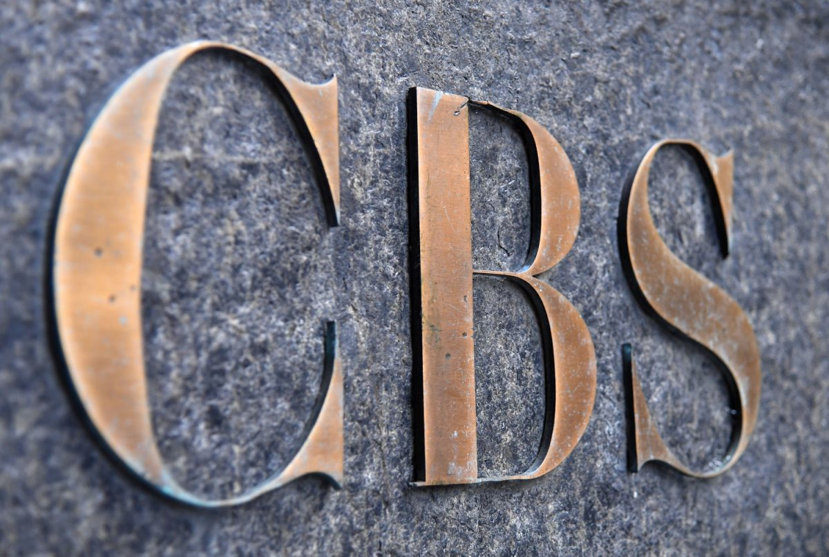 CBS logo in NYC
