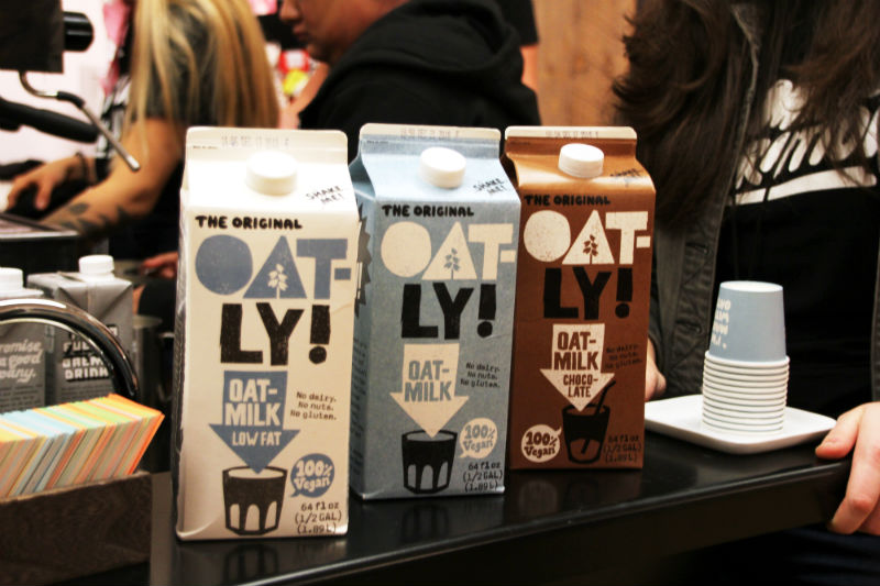 oat milk at new york coffee festival