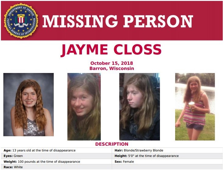 missing person FBI Jayme Closs