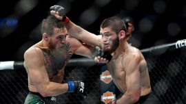 Arrests Made as Khabib Jumps Cage to Fight Conor McGregor's Team, Sparking Brawl