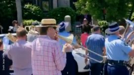 Musicians Pay Tribute to Australian Conductor Richard Gill Outside His Sydney Home