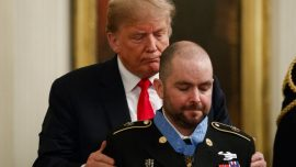 Trump Awards Soldier Medal for Heroic Action in Afghanistan