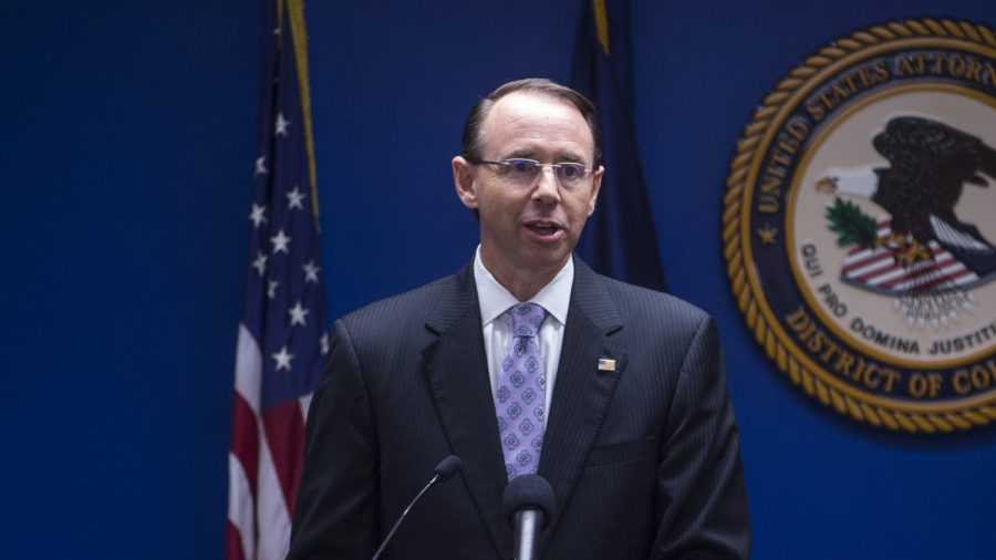 Rod Rosenstein Defends Barr's Handling of Special Counsel Report