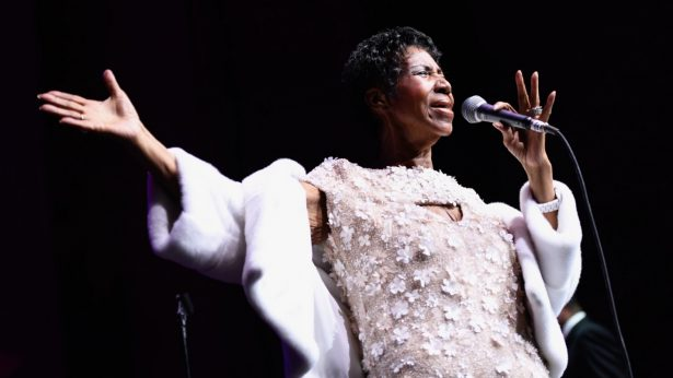 Aretha Franklin performs onstage