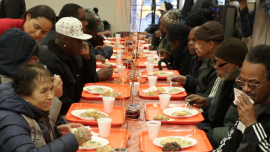Compassionate New Yorkers Feed The Hungry on 'Orange Friday'