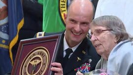 98-Year-Old WWII Nurse Honored as a Hero