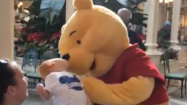 Disney World's Winnie the Pooh Shares Tender Moment With Disabled Child