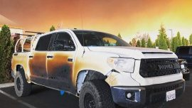 Nurse's Truck Melts as He Heads to Rescue Patients From California Wildfires, Toyota Gifts New Truck