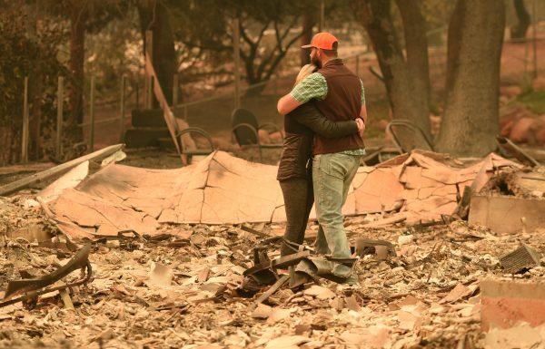 camp fire destroys home