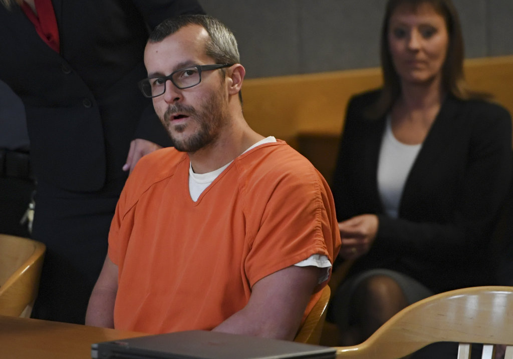 Chris Watts in court for his sentencing hearing