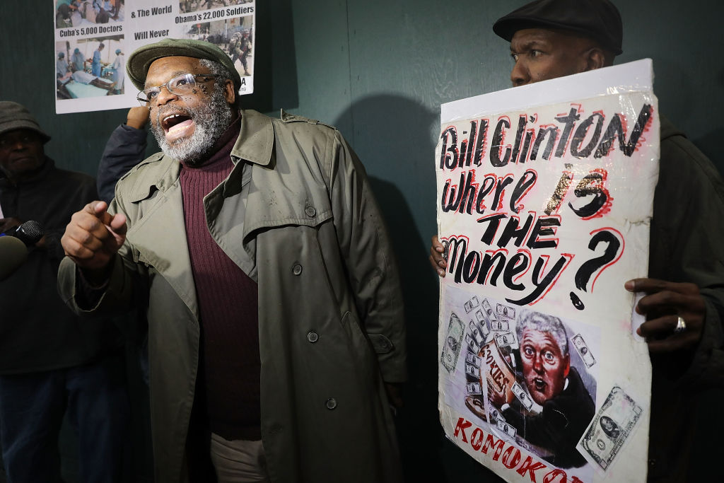 Haiti earthquake anniversary protest
