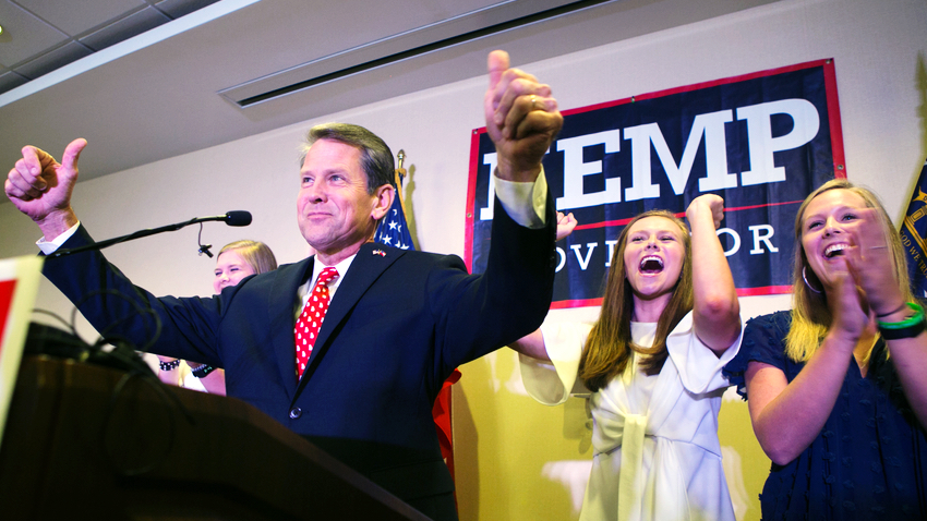 Georgia Gubernatorial Candidate Brian Kemp Resigns as He Appears to Win Race