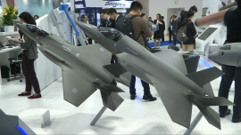 Arms Firms Display Their Wares in Tokyo at International Aerospace Exhibition