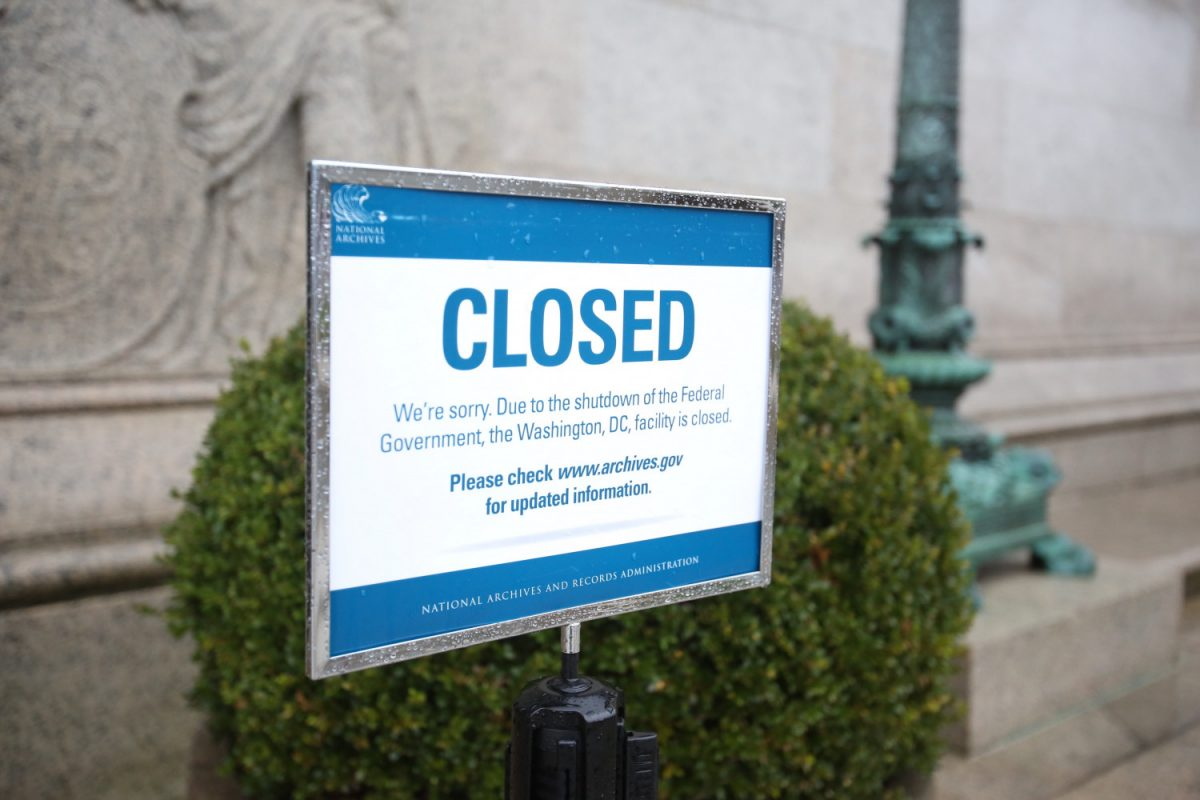 Second closed sign National Archives Museum