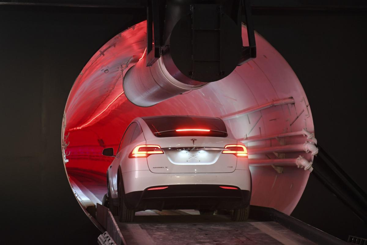 A modified Tesla Model X