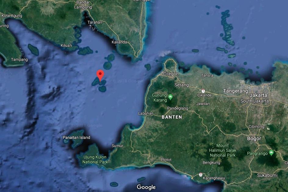 Anak Krakatau in the Sunda Strait, Indonesia