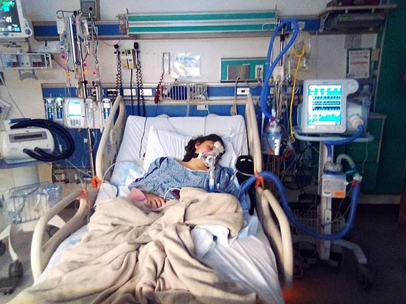 Alaina van der Velden spent a long time in the hospital