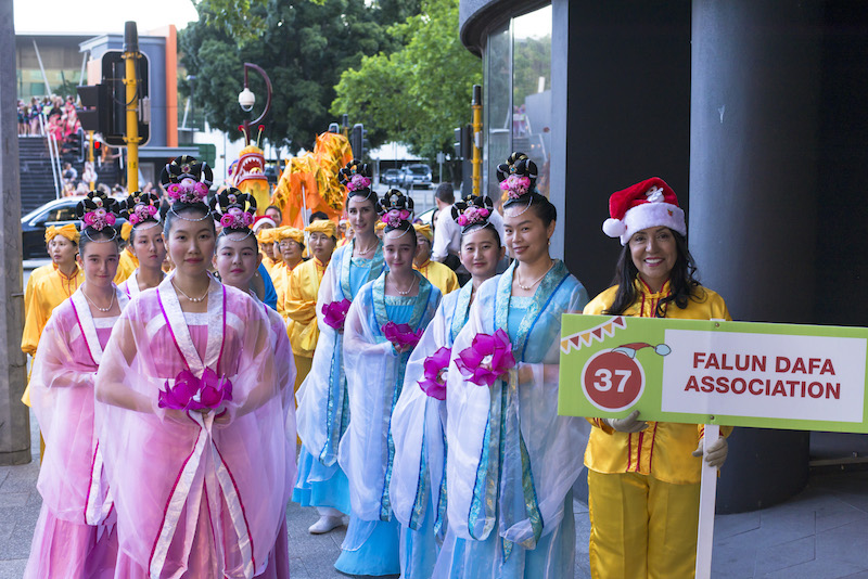 Christmas Pageant Falun Gong practitioners 2018 Perth Celestial Maidens
