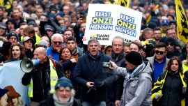 Thousands March in Brussels Against UN Migration Pact