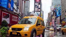 New York Taxi Drivers Protest Next Year's Congestion Fee